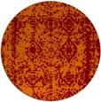 rug #1084238 | round red-orange graphic rug