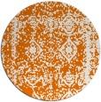 rug #1084242 | round orange damask rug