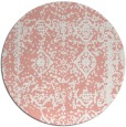 rug #1084266 | round white faded rug