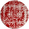 rug #1084286 | round red graphic rug