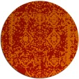 rug #1084290 | round orange graphic rug