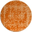 rug #1084306 | round red-orange damask rug