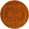 rug #1084310 | round red-orange traditional rug