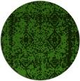 rug #1084318 | round light-green damask rug