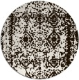 rug #1084334 | round brown damask rug