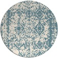 rug #1084342 | round blue-green traditional rug