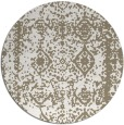 rug #1084346 | round white faded rug