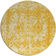 rug #1084350 | round yellow graphic rug