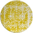 rug #1084358 | round yellow faded rug