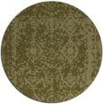 rug #1084382 | round light-green damask rug