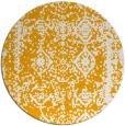 rug #1084386 | round light-orange faded rug