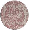 rug #1084390   round pink damask rug