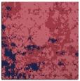 rug #1084866 | square blue-violet damask rug