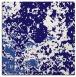 rug #1084874 | square blue-violet damask rug