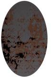 rug #1085146 | oval black traditional rug