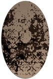 rug #1085150 | oval beige faded rug