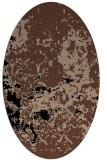 rug #1085154 | oval black traditional rug