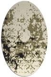 rug #1085162   oval black damask rug