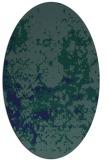 rug #1085178 | oval blue damask rug