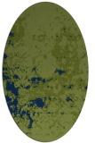rug #1085182 | oval blue damask rug