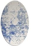 rug #1085186 | oval blue faded rug