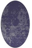 rug #1085230 | oval blue-violet traditional rug