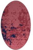 rug #1085234   oval blue-violet faded rug