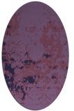 rug #1085238 | oval purple faded rug