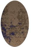 rug #1085246 | oval blue-violet damask rug