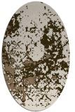 rug #1085294 | oval mid-brown faded rug
