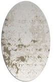 rug #1085298 | oval white faded rug