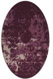 rug #1085302   oval pink traditional rug