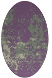 rug #1085322 | oval purple faded rug