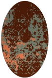 rug #1085354   oval orange popular rug