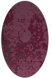 rug #1085374 | oval purple damask rug
