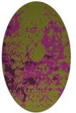 rug #1085378 | oval purple damask rug