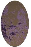 rug #1085382 | oval purple damask rug