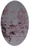 rug #1085386 | oval purple damask rug