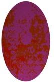 rug #1085402   oval red damask rug