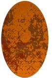 rug #1085406 | oval red-orange damask rug
