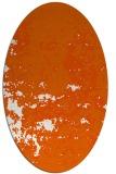 rug #1085418   oval red-orange faded rug
