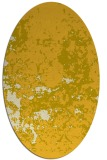 rug #1085454 | oval yellow traditional rug