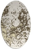 rug #1085458 | oval white faded rug