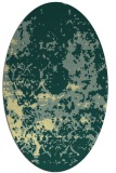 rug #1085470 | oval blue-green rug