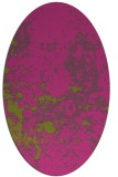 rug #1085482 | oval pink rug