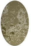 rug #1085486 | oval light-green damask rug