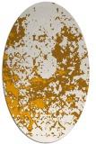rug #1085490 | oval light-orange traditional rug