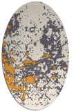 rug #1085502 | oval white faded rug