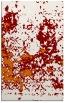 rug #1085714    orange damask rug