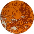 rug #1085874 | round orange traditional rug